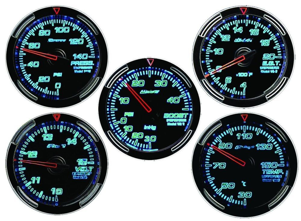 Jdm Gauge Drinks Coaster Set of 5 Boost,Egt,Temp,Pressure,Volt Drift Race Gift