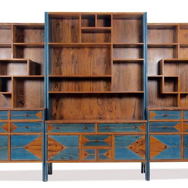 Three Piece Solid Wood Fit In Full Height Bookshelf Cum Display Shelf We Have Named It Kitaplk Meaning Turkish Made With Teakwood