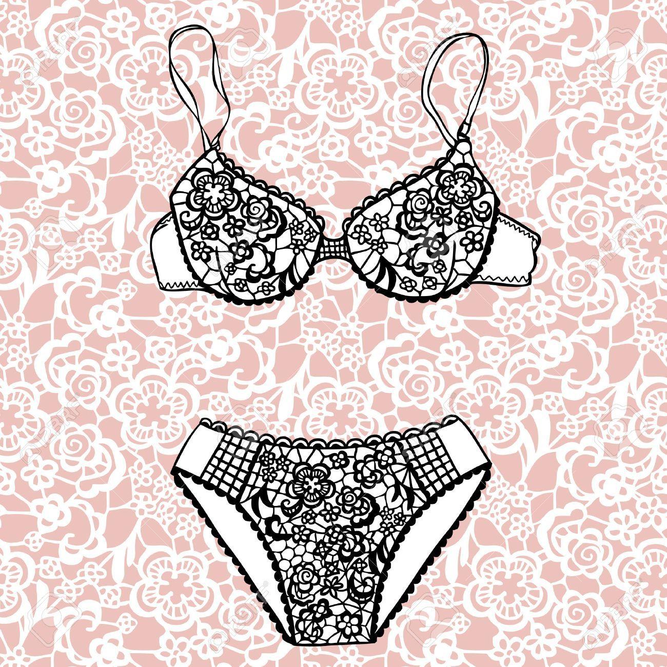 0a6683260 Resultado de imagem para desenho lingerie colorida