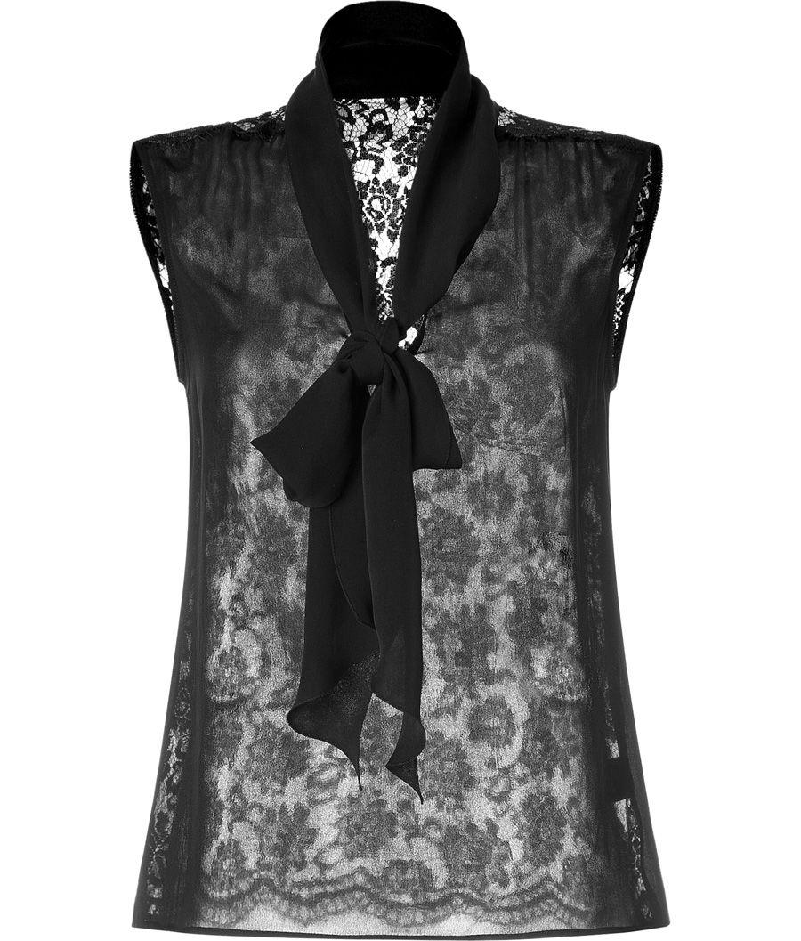 D Dolce & Gabbana Black Lace Back Top