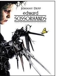 edward scissorhands. this movie is strange and full of oddities and i love it.