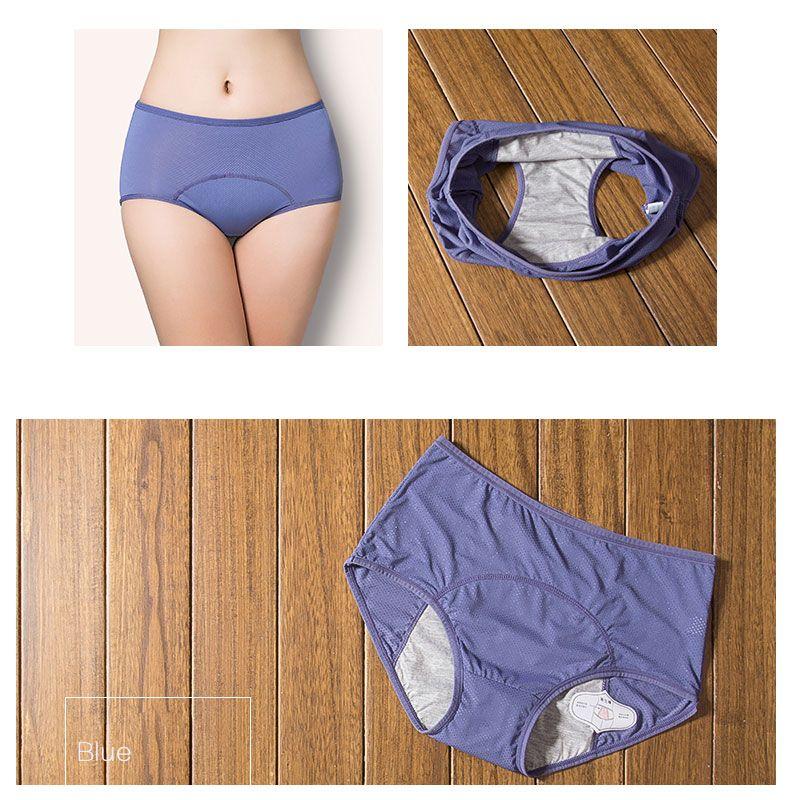 e9031427ee57 KOMPRITAS.com Prueba de fugas período Menstrual bragas ropa interior de  mujeres pantalones fisiológicos pantalones de algodón de la salud sin  costura alta ...