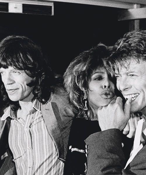 Mick Jagger, Tina Turner & David Bowie