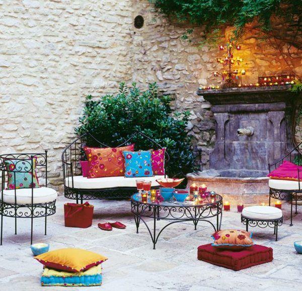 Salon De Jardin De Style Moderne Marocain Boheme Jardin Marocain Salon De Jardin Deco Marocaine