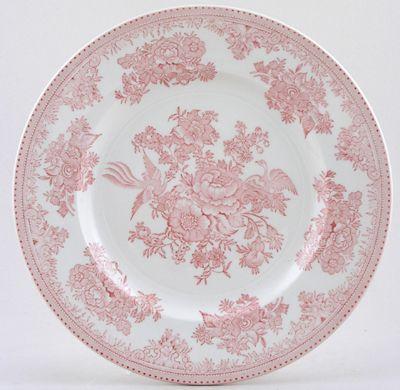Burleigh Asiatic Pheasants pink Dinner Plate  sc 1 st  Pinterest & Burleigh Asiatic Pheasants pink Dinner Plate   Red Transferware ...