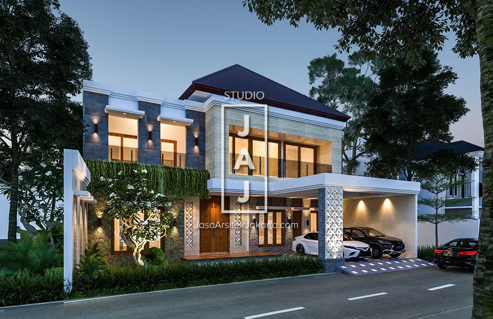 Desain Rumah 2 Lantai 304m2 Bali Modern Bapak Johan Di Pekanbaru Jasa Arsitek Jakarta Desain Rumah 2 Lantai Home Fashion Desain Rumah