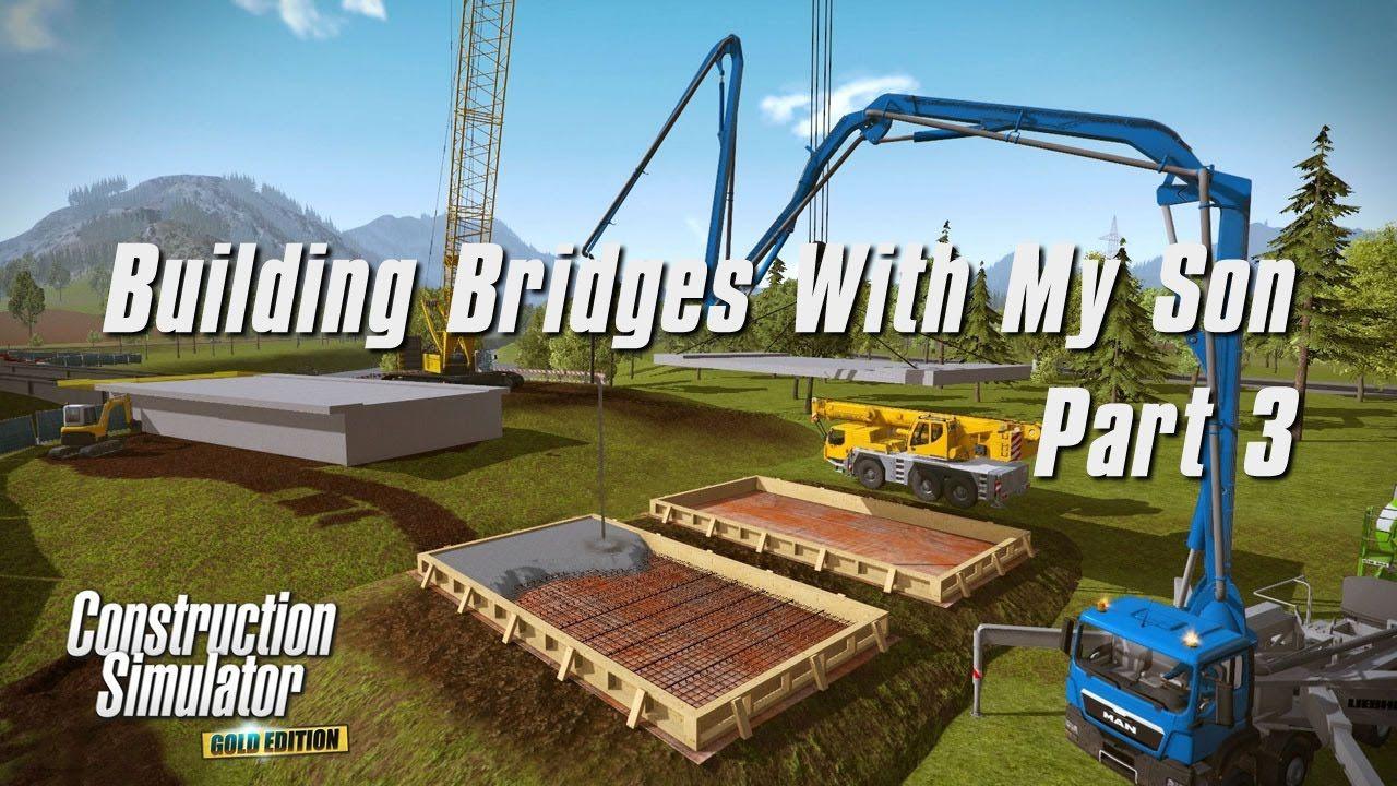 Construction Simulator 2015 Multiplayer Building bridges