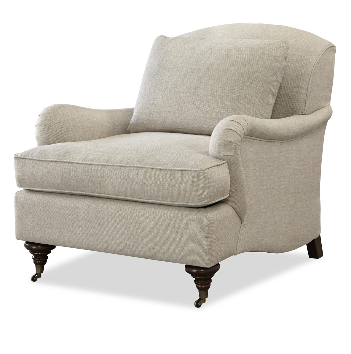Sedia Girevole English Churchill Linen Upholstered English Rolled Arm Chair Sofas And