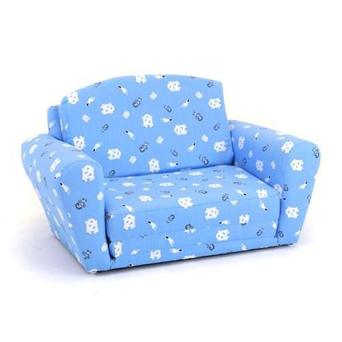 Kidz World Furniture N. Carolina Tarheels Sleep_Sofa   KWF 1850 1 NC
