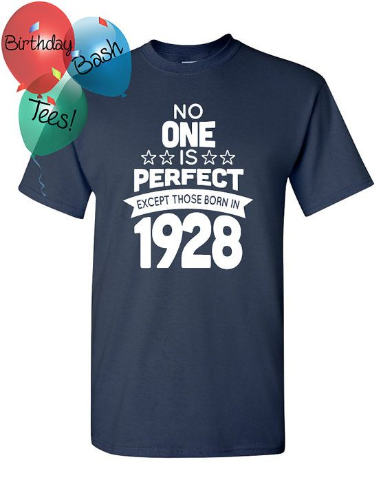 88 Year Old Birthday Shirt No One Is Perfect By BirthdayBashTees
