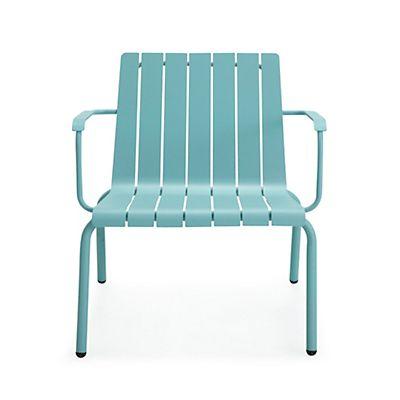 Fauteuil de jardin relax en aluminium bleu d coration d co maison alin a salle - Alinea fauteuil jardin ...