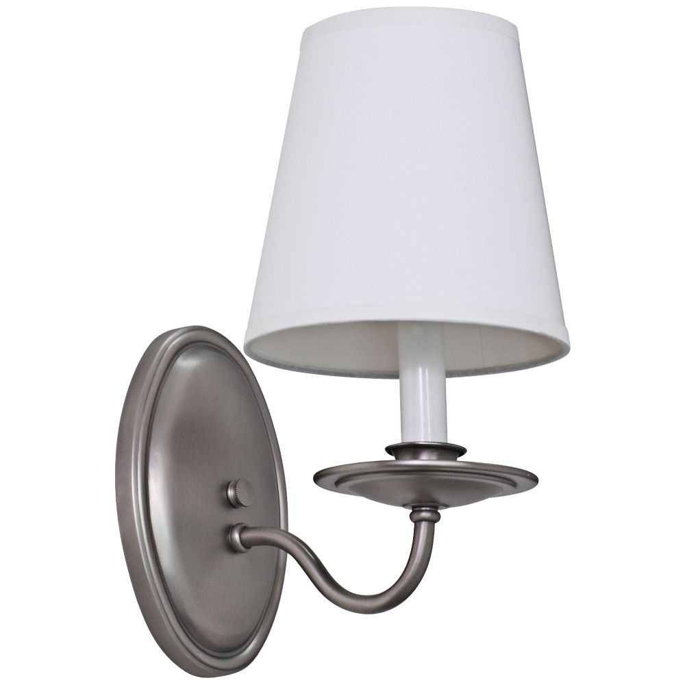 Lake Shore Curved 11 12 High Satin Pewter Wall Sconce Style