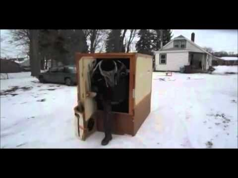 Worlds Fastest Folding Ice Fishing Shanty - YouTube | great