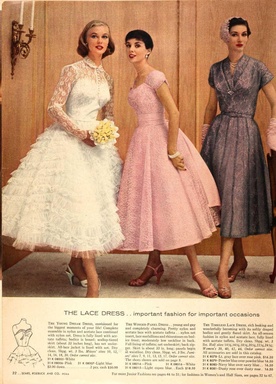 Mega Post Of Fashions From The 1957 Sears Catalogs Enjoy Fifties Fashion Vintage Dresses Petticoat Dress