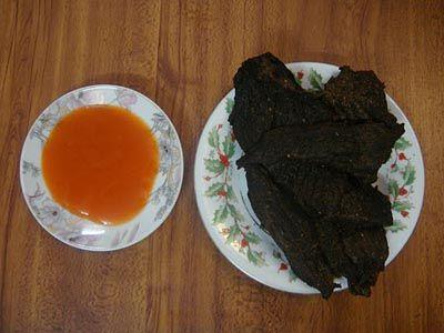 Thịt bò khô tuyệt ngon, được ăn thử trước khi mua
