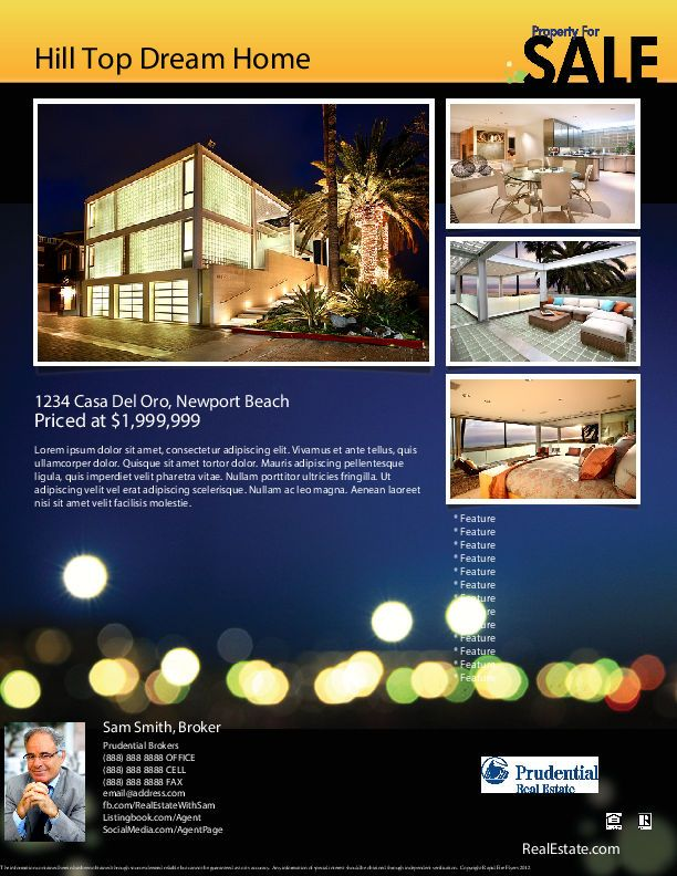 nice Flyer Gallery | Real Estate Marketing Flyer Templates ...