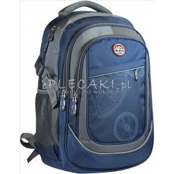 12f4c52bf30ac Plecak szkolny ze wzorem dla chłopaka granatowy