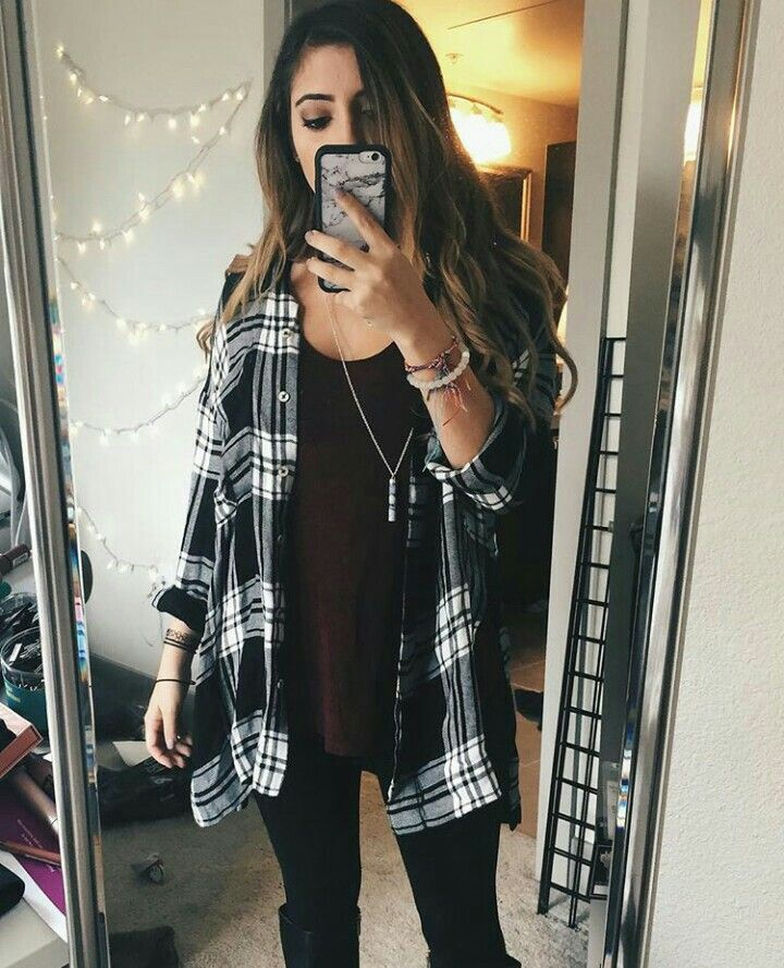 pinterest stephanie verkaik  fashion flannel outfits
