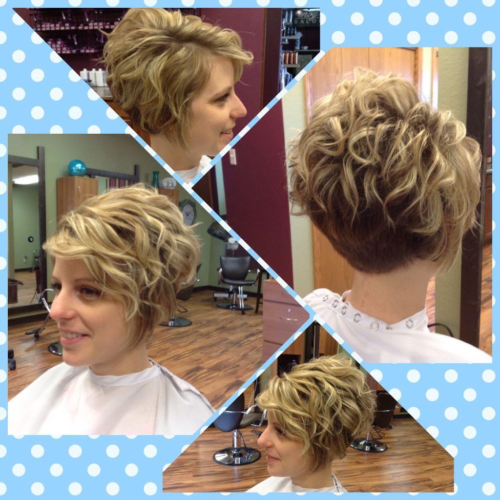 Curled Short Hair!!! Beautiful