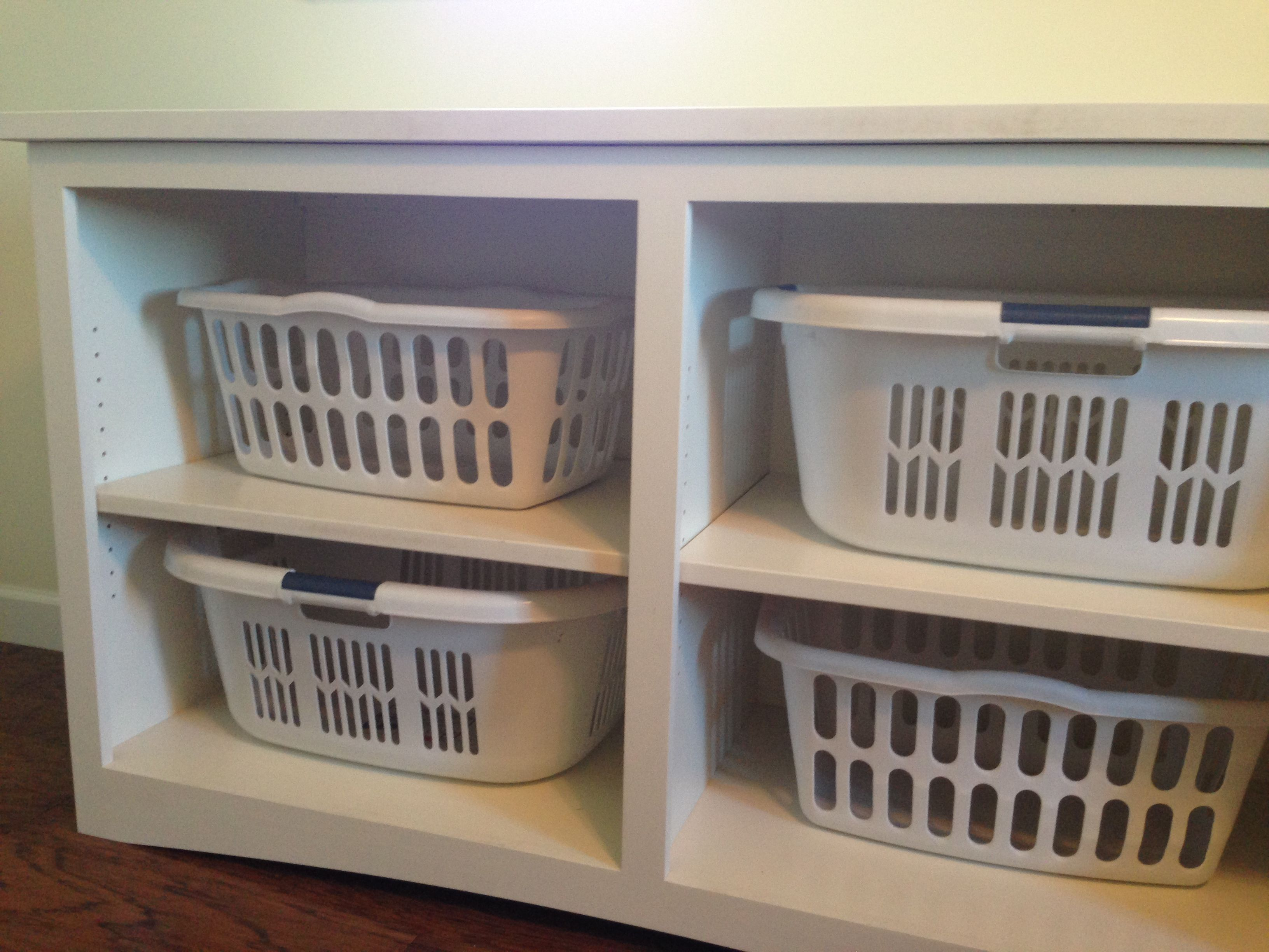 Laundry Basket Storage! Vliet Builders #Champaign, Il. Home Builder #hoodle