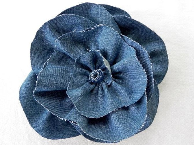 How to make flowers out of denim? #makeflowers