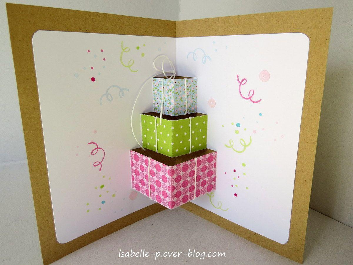 Un Peu De Pop Up Carte Joyeux Anniversaire Cartes De Noel Pour