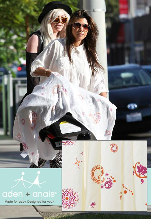 Kourtney Kardashian With An Aden And Anais Blanket Aden And Anais