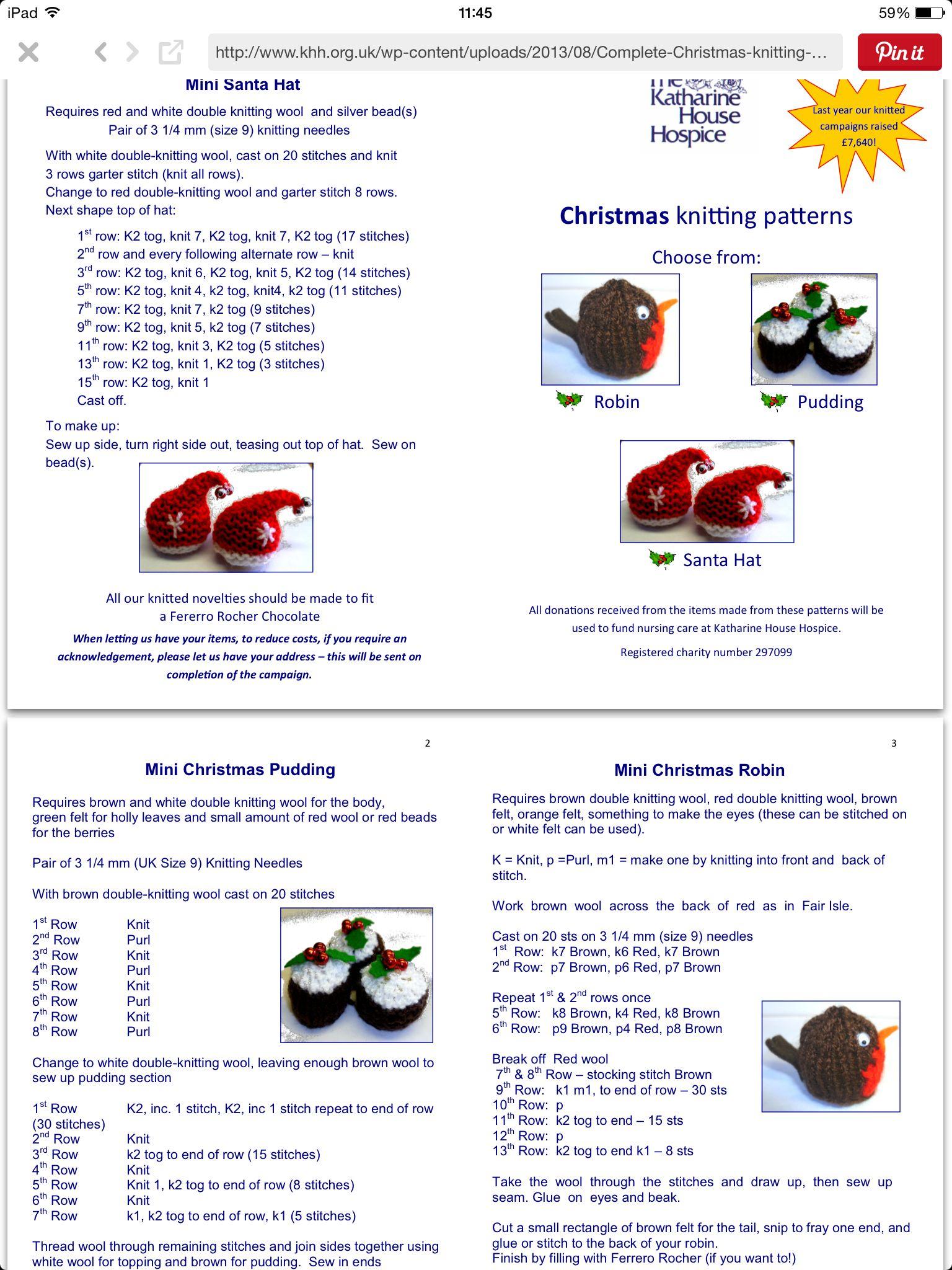 Ferrero Rocher jackets | Christmas knitting patterns, Christmas knitting patterns free ...