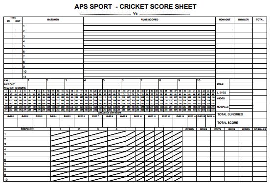 Cricket Score Sheet Excel 458