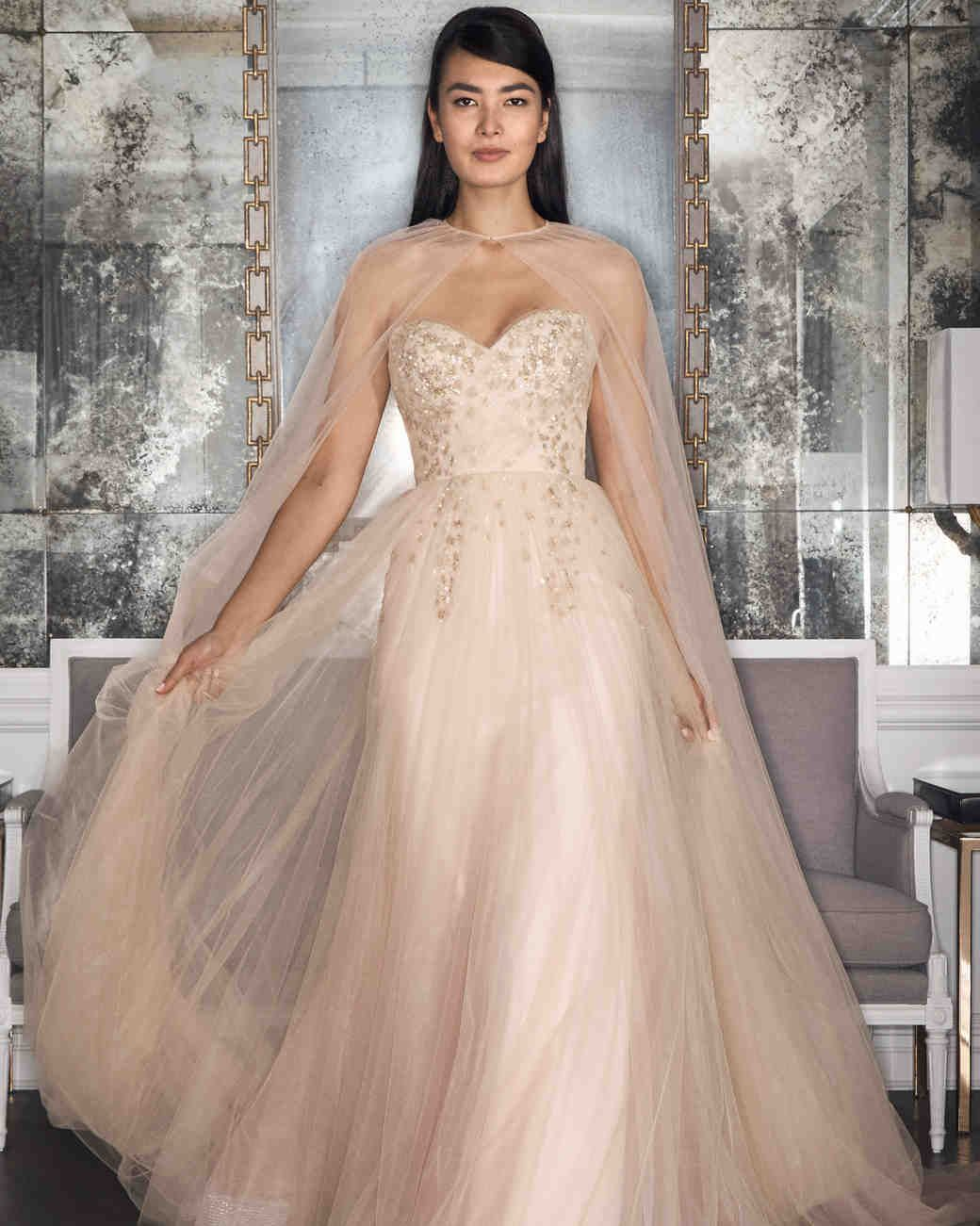 Outdoor wedding dresses with color