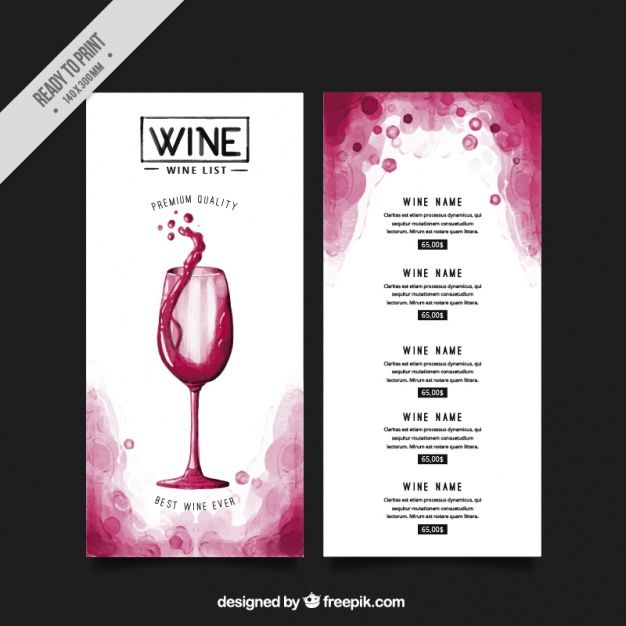 Invitation Template For Event Or Party Suitable For Tasting