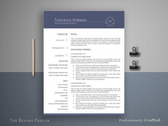 Nice Resume Template 4 Page Medical CV CreativeWork247 - Fonts - nice resume template