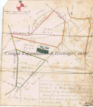 1830 Caroline County, Virginia Plat Map | Central ... on map of virginia in 1825, map of virginia historical sites, map of virginia ohio, map of virginia in 1850, map of virginia in 1860, map of virginia in 1822, map of virginia va,