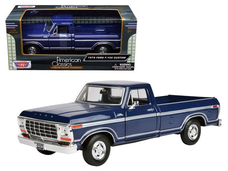 1979 ford f-150 pickup truck 1:24 diecast model carmotormax