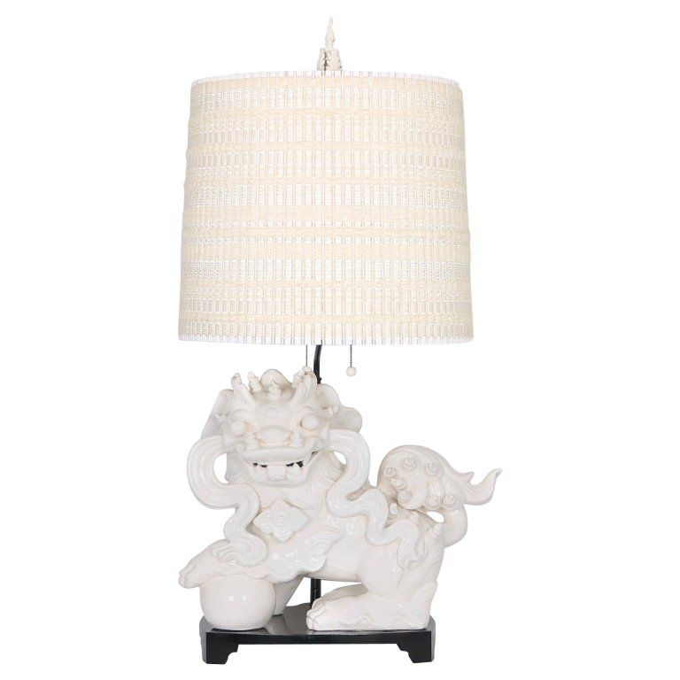 Hollywood Regency Nardini Studios Foo Dog Table Lamp With Maria Kipp Shade Dog Table Table Lamp Lamp