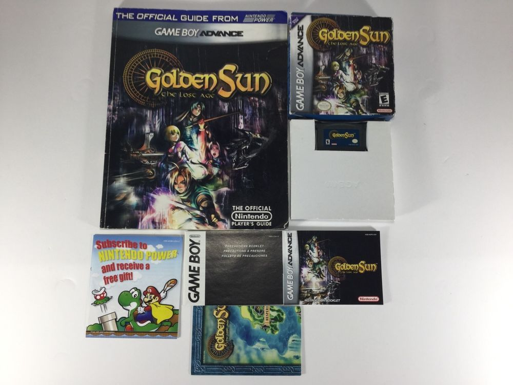 Golden Sun THE LOST AGE (Nintendo Game Boy Advance) CIB!! w/Map ...