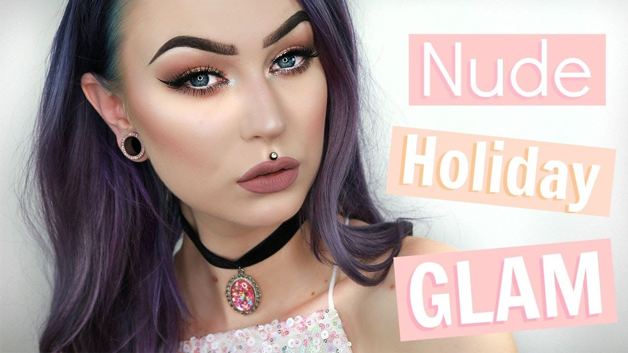 Nude Holiday Glam Makeup Tutorial | Evelina Forsell