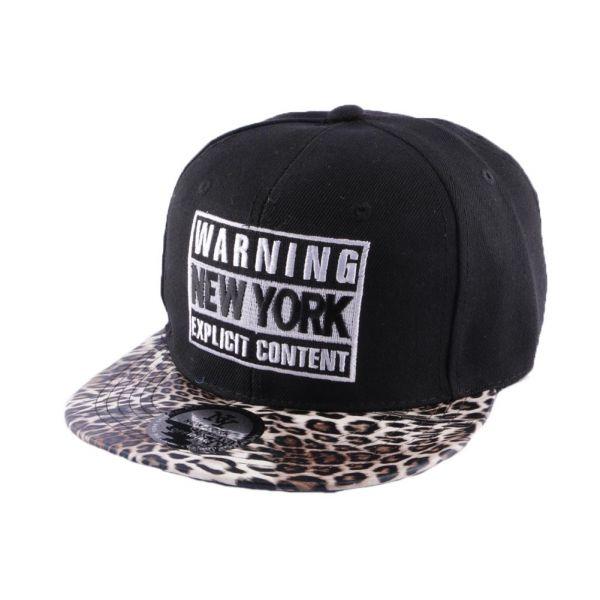 Snapback Warning New York Noire et Leopard #bonplan #snapback #mode #streetwear #skate dans votre boutique Headwear @hatshowroom