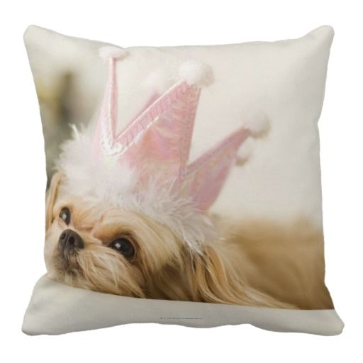Dog With A Crown Throw Pillow Zazzle Com Princess Puppies Dogs Cute Puppies