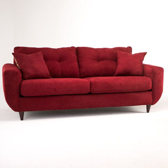 Natalie Living Room Package - Cayenne Sofa In Red