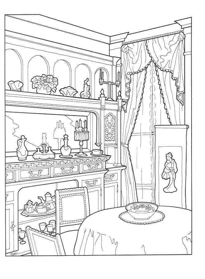 Coloring Pages for Adults Adult Coloring Pages House
