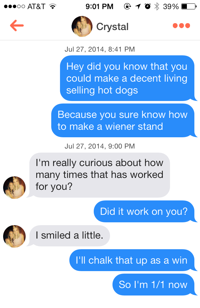 Online dating pickup lines