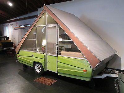 1976 Vintage Chalet Pop Up Camper Travel Trailer