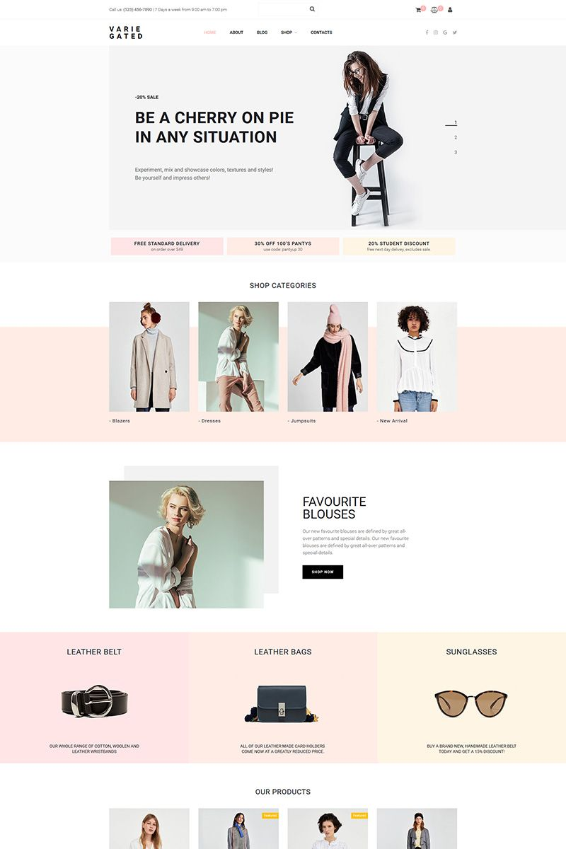 Varie Gated Fashion Online Store Motocms Ecommerce Template 73783 Online Fashion Stores Fashion Web Design Ecommerce Template