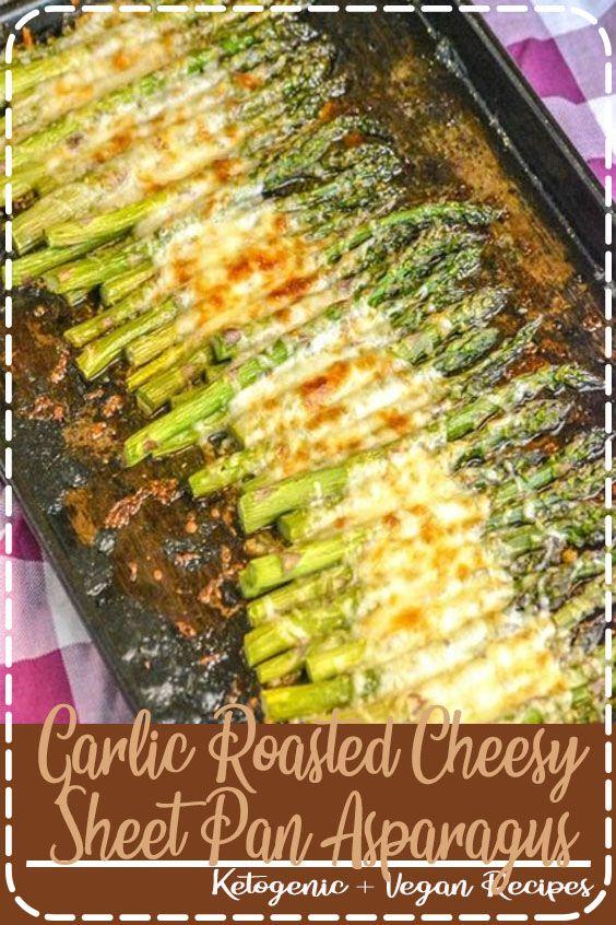 Garlic Roasted Cheesy Sheet Pan Asparagus Looking for a new way to fix asparagus? This Garlic Roast