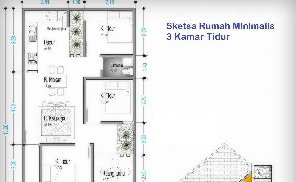 Denah Rumah 3 Kamar Ukuran 7x9 2 Lantai Rumah Bsd Karya Dap Studio Sumber Tak Ada Rumus Yang Pasti Dan Mutlak Pada Denah Rumah Rumah Minimalis Rumah Minimalis