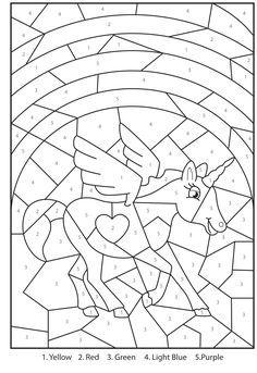 Free Printable Magical Unicorn Colour By Numbers Activity For Kids Unicornios Para Pintar Hojas De Ejercicios Para Ninos Moldes De Corbatas