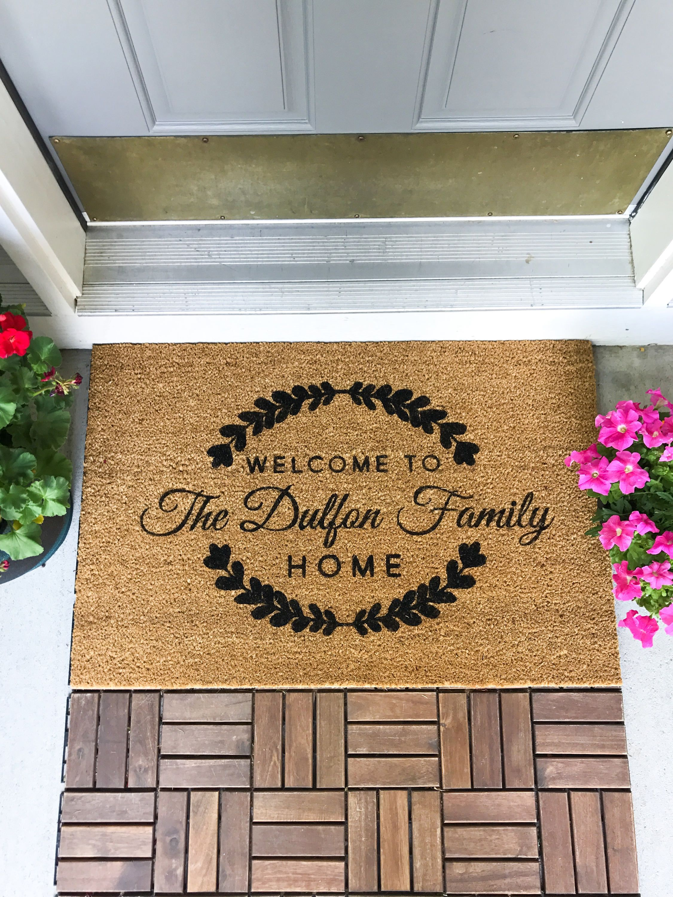 Large Custom Doormat Closing Gift Housewarming Gift Wedding Gift Custom Doormat Anniversary Gift Personali Custom Doormat Personalized Door Mats Door Mat
