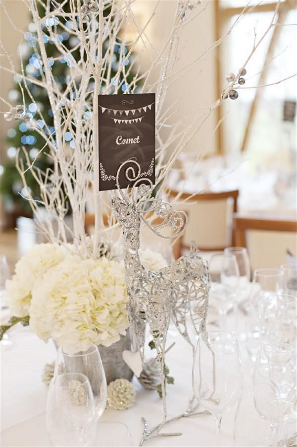White winter wedding centerpieces ideas christmas