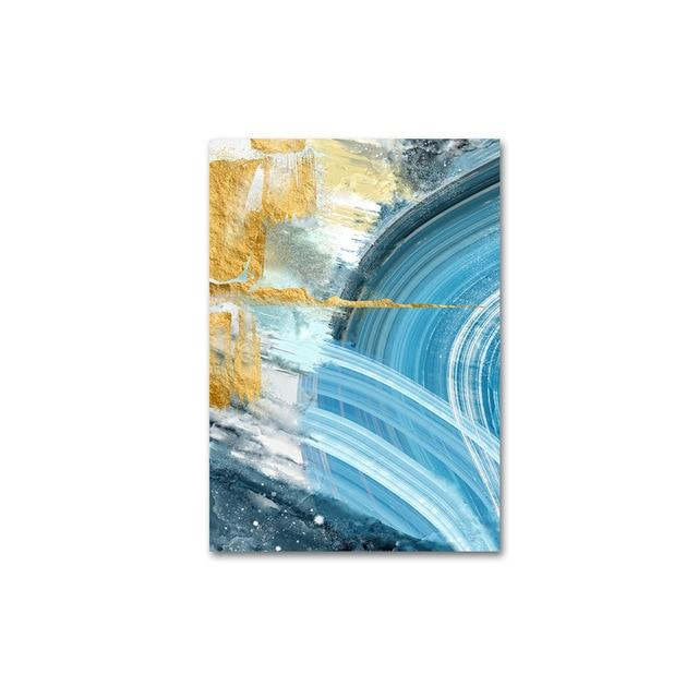 Colorful Abstract Blue And Gold Marble Nordic Contemporary Art Posters Nordicwallart Com Contemporary Art Fine Arts Posters Canvas Art